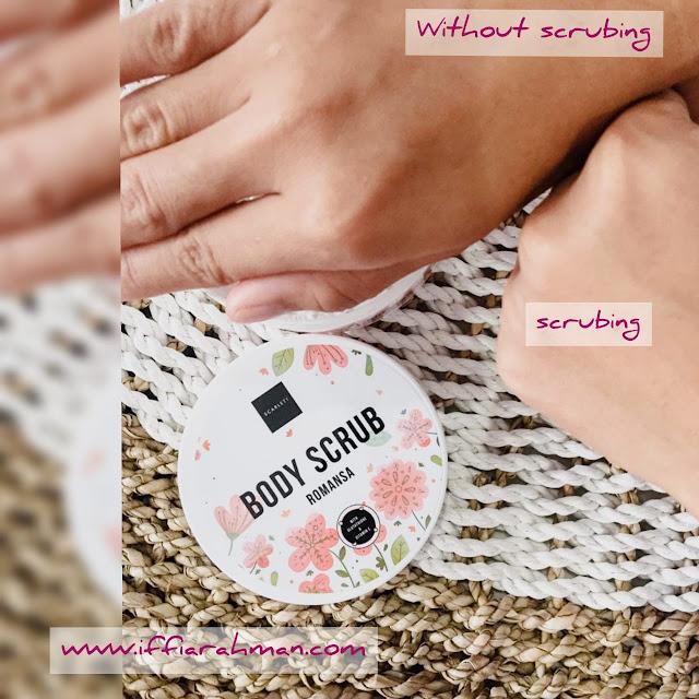 romansa body scrub scarlett whitening