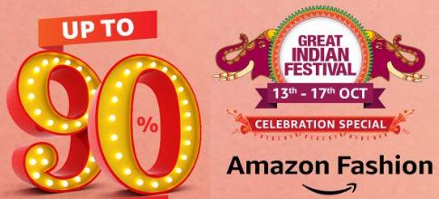 Upto 90% Off on Amazon Great Indian Festival Diwali Sale 2019