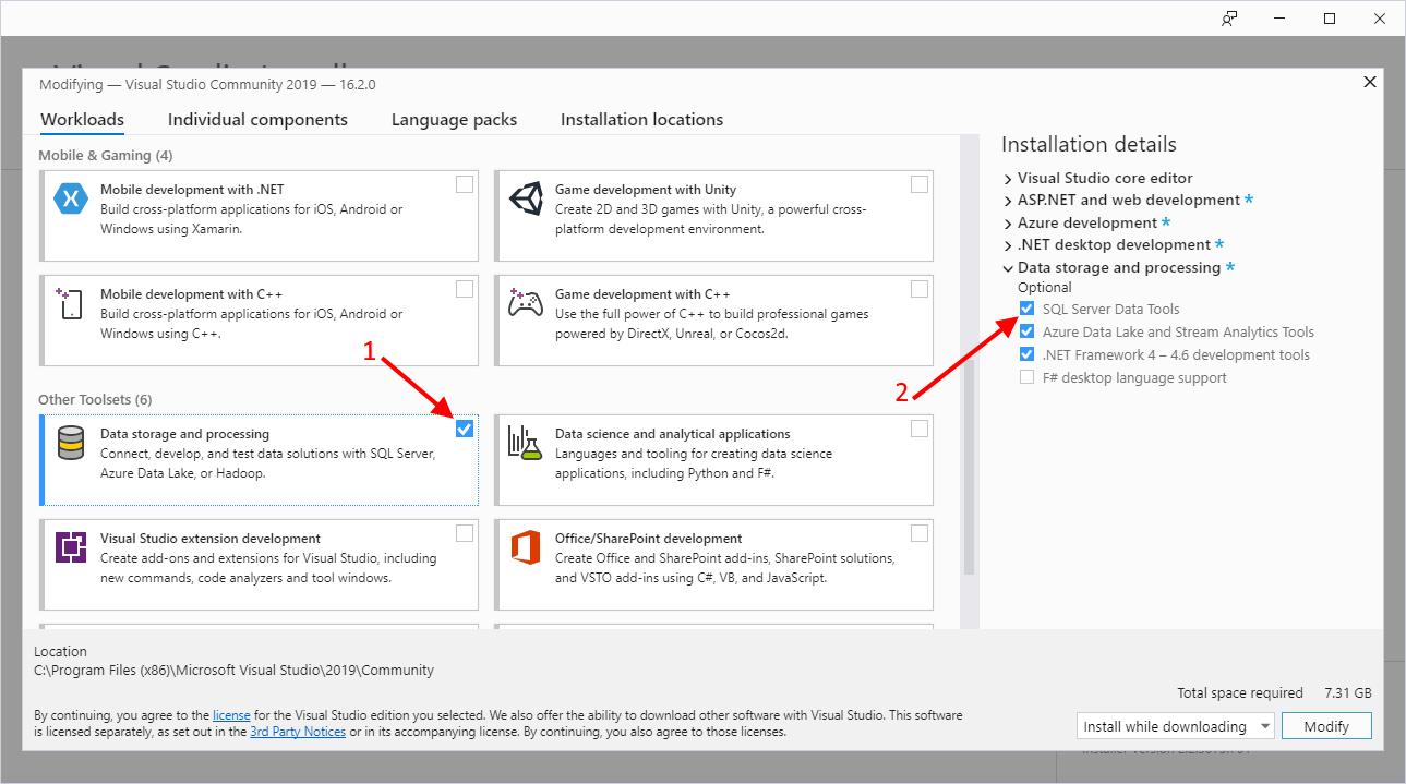 Microsoft BI Tools: 2019