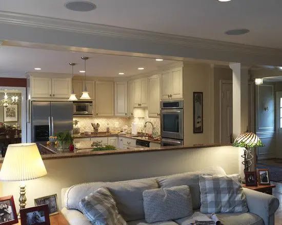 open kitchen with hall design