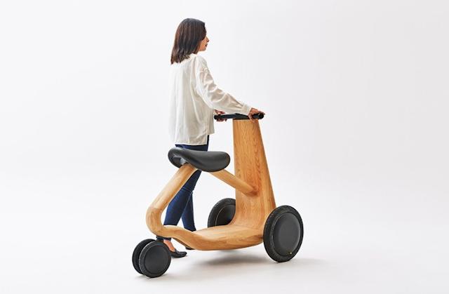 【科技介紹】日本設計師結合自然與科技 帶來實木電動三輪車