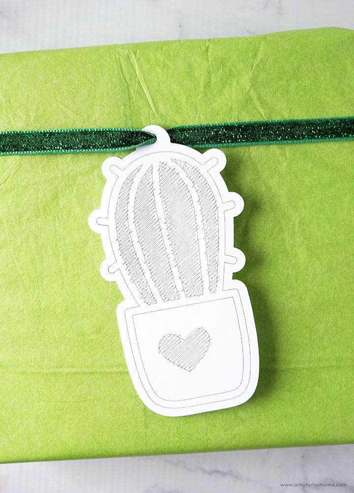 Cricut Foil Cactus Gift Tag