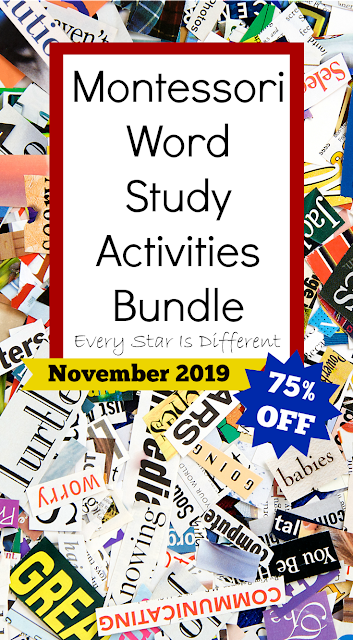 Montessori Word Study Activities Bundle