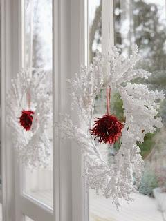 Decoración de navidad en color blanco