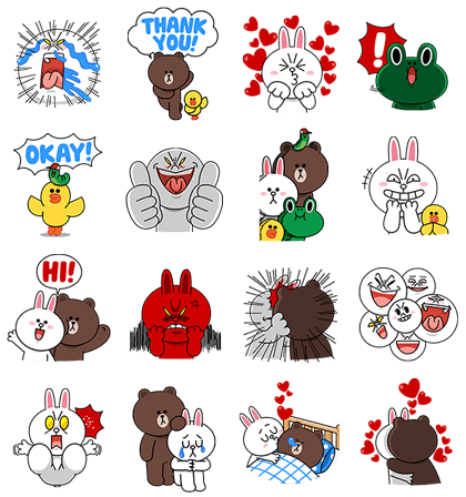 LINE Characters: Screen Hogs
