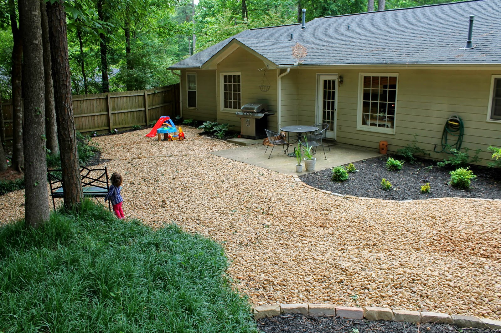 a peachtree city life: Backyard Part III: ROCKS! (and it's