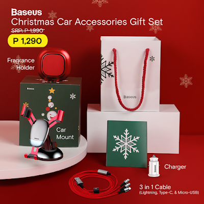 Baseus Christmas Car Accessories Gift Set