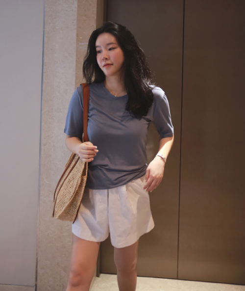 Drop Shoulder Round Neck T-Shirt
