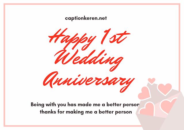 ucapan wedding anniversary pertama bahasa inggris untuk suami