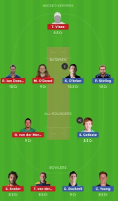 IRE vs NED dream 11 team | NED vs IRE