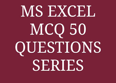 Excel mcq