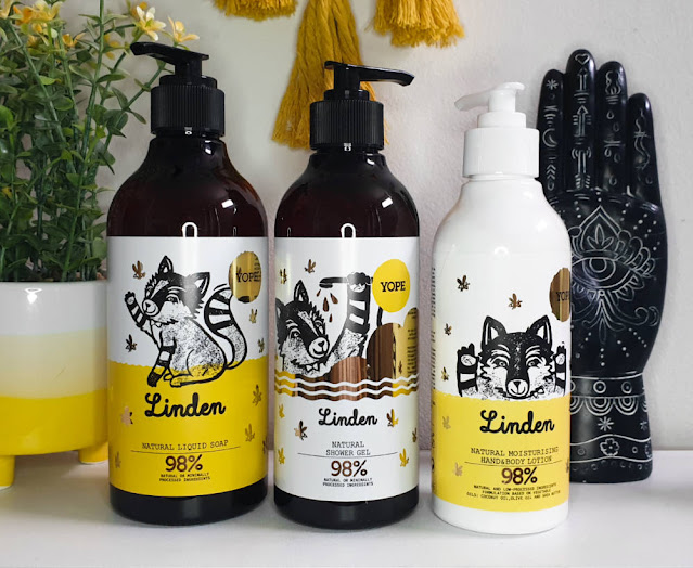 YOPE Linden Natural Liquid Soap, Natural Shower Gel and Natural Hand and Body Lotion