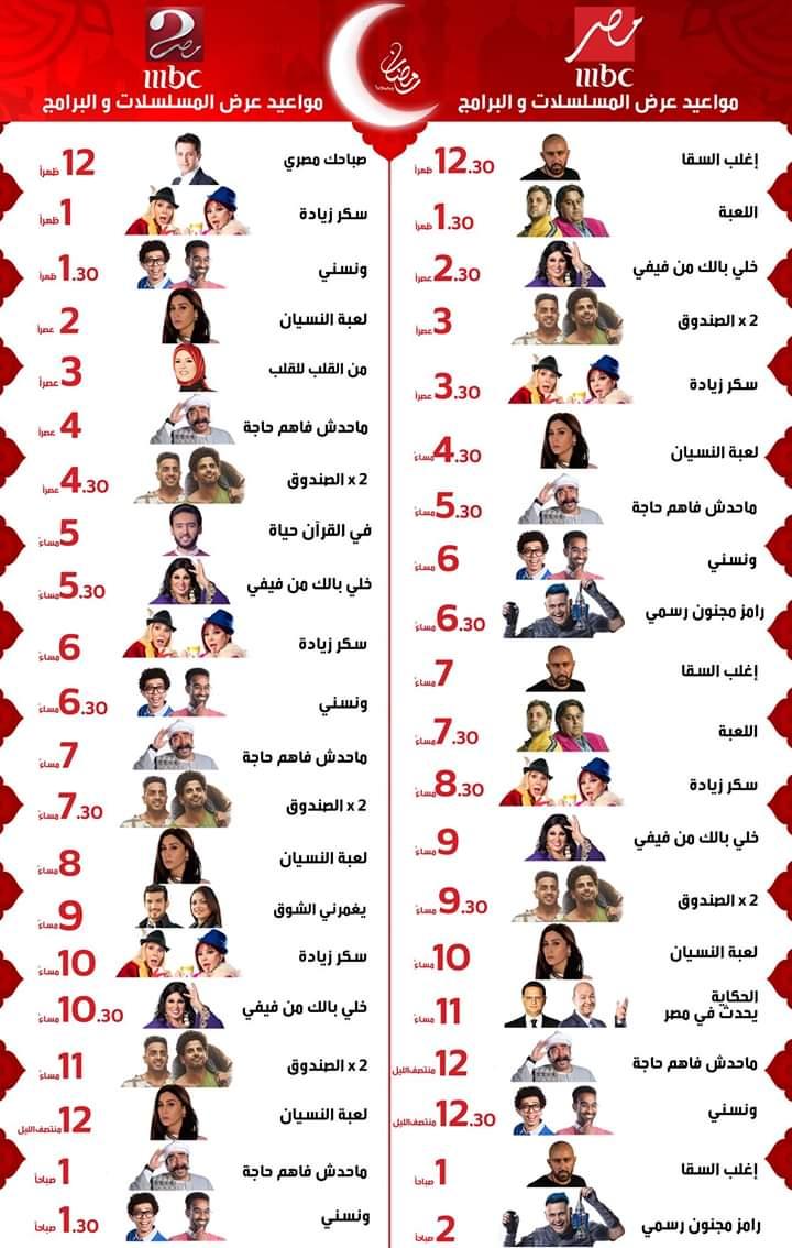 تردد ام بي سي مصر، مسلسل لعبة النسيان، MBC, تردد mbc مصر، تردد قناه ام بي سي مصر2