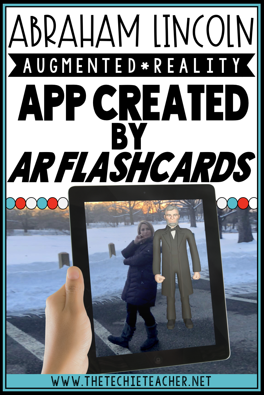 Students will have a blast studying Abraham Lincoln and the Gettysburg Address with this augmented reality iOS app created by AR Flashcards.