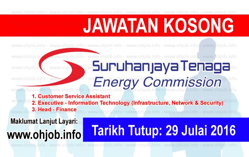 Jawatan Kerja Kosong Suruhanjaya Tenaga (ST) logo www.ohjob.info julai 2016