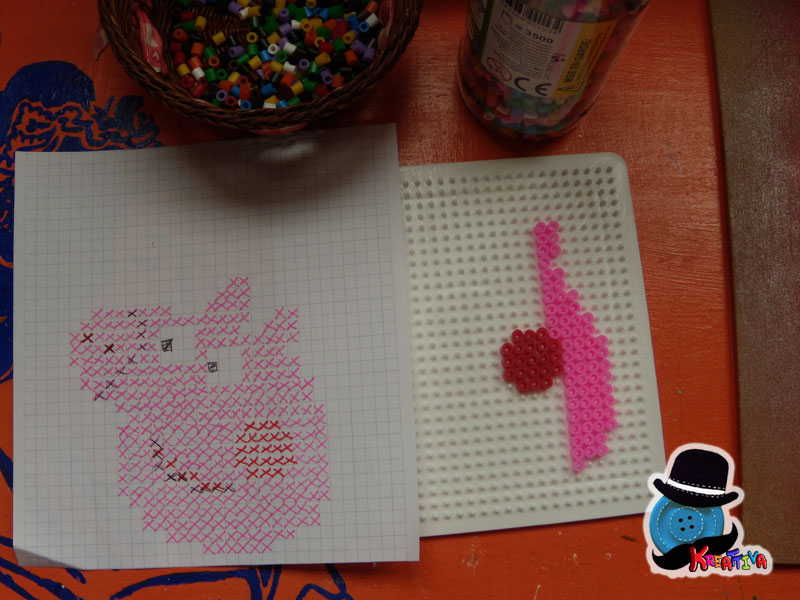 modello peppa pig con perline da stirare