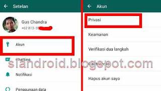 Cara sembunyikan foto Profil whatsApp