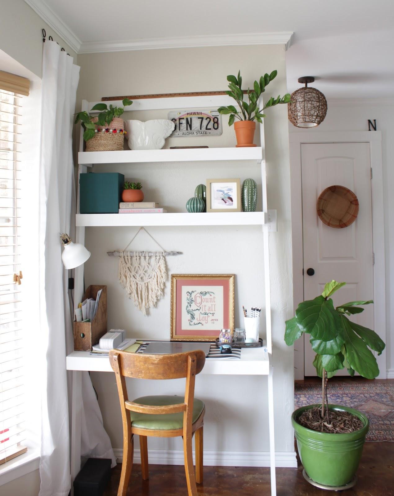 leaning ladder desk | House Homemade