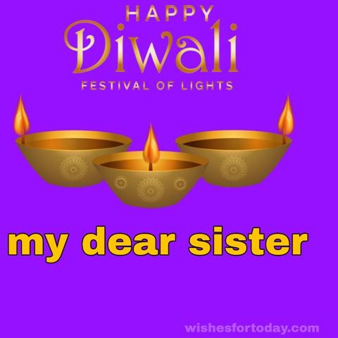 Happy Diwali Dear Sister Images