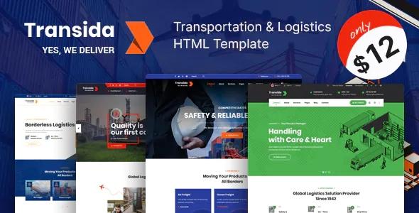 Transida Logistics & Transportation Company Premium Template