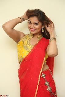 Actress Ashwini in Golden choli Red saree Spicy Pics ~  043.JPG