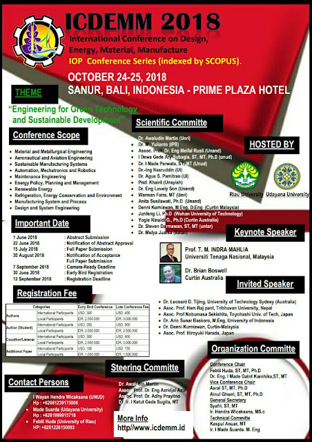 Call for Papers FE Riau University