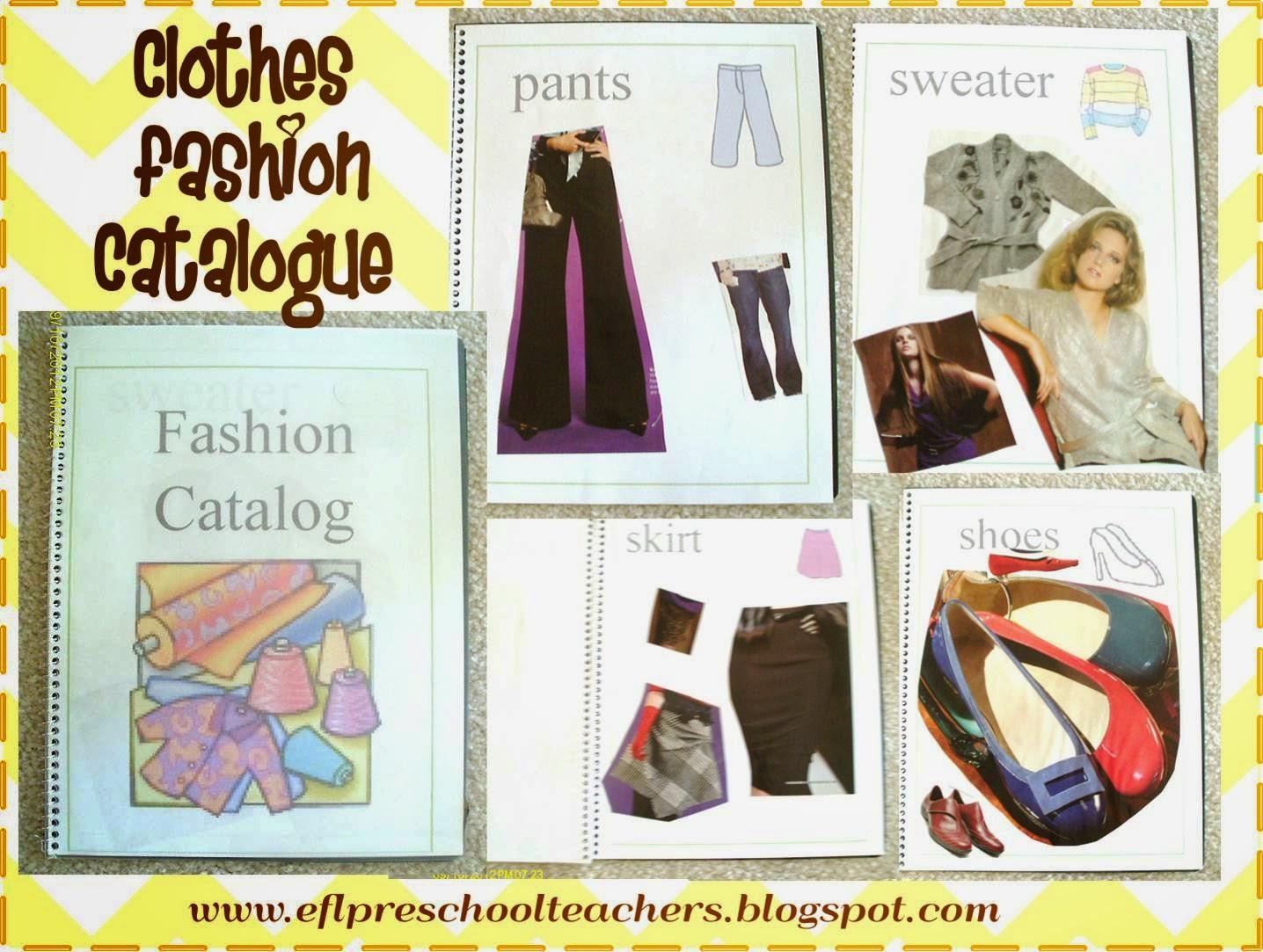 Esl Efl Preschool Teachers Clothes Theme For Preschool Ell