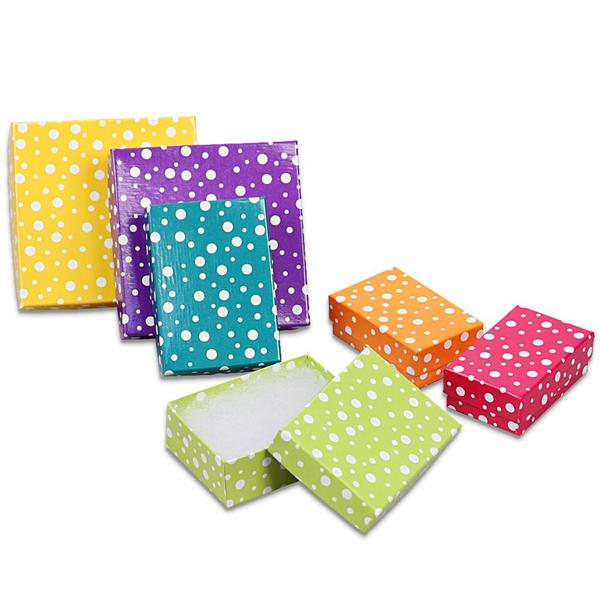 Shop Wholesale Polka Cotton Filled Jewelry Paper Box at Nile Corp