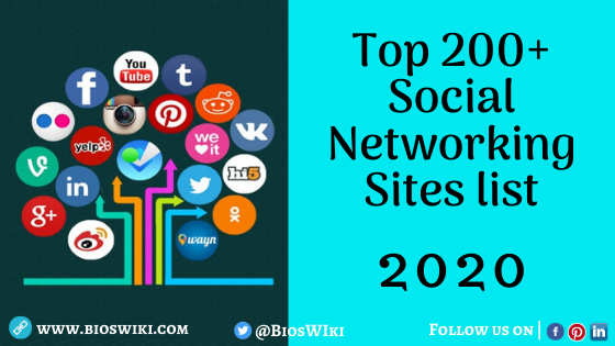 Top 200+ Social Networking sites list 2020