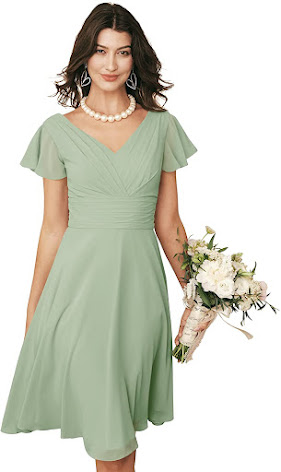 Cute Knee Length Chiffon Bridesmaid Dresses
