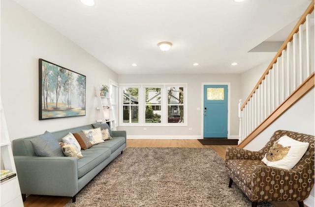 color interior photo of living room, 1034 S Elmwood Avenue, Oak Park, IL, Sears Norwood model