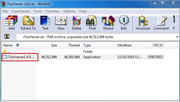 cài đặt itaxviewer 1.4.9