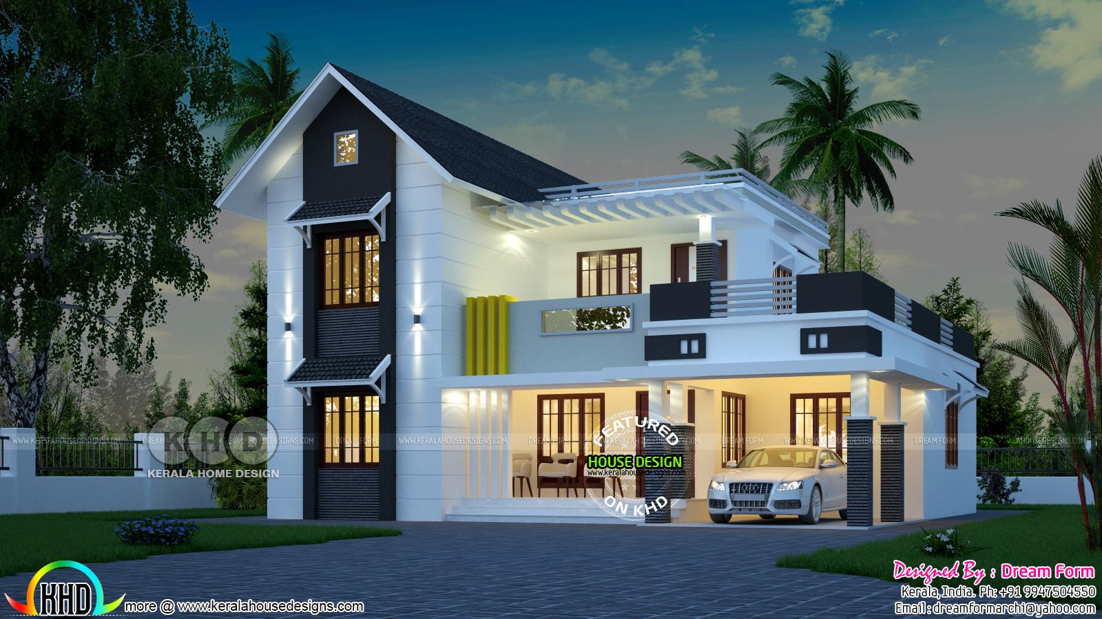 4 Bedroom Nice Looking Mixed Roof House Kerala Home