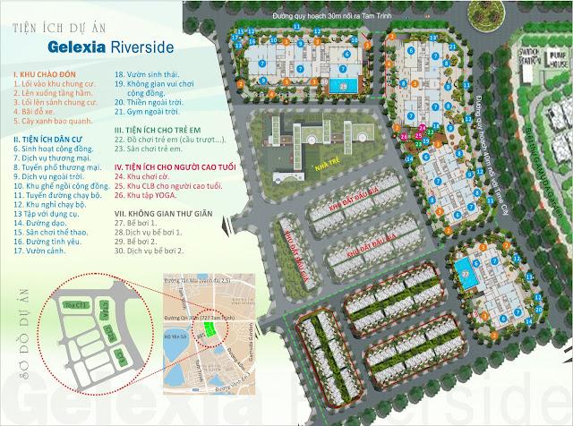 Mặt bằng phân khu tổng thể dự án Gelexia Riverside