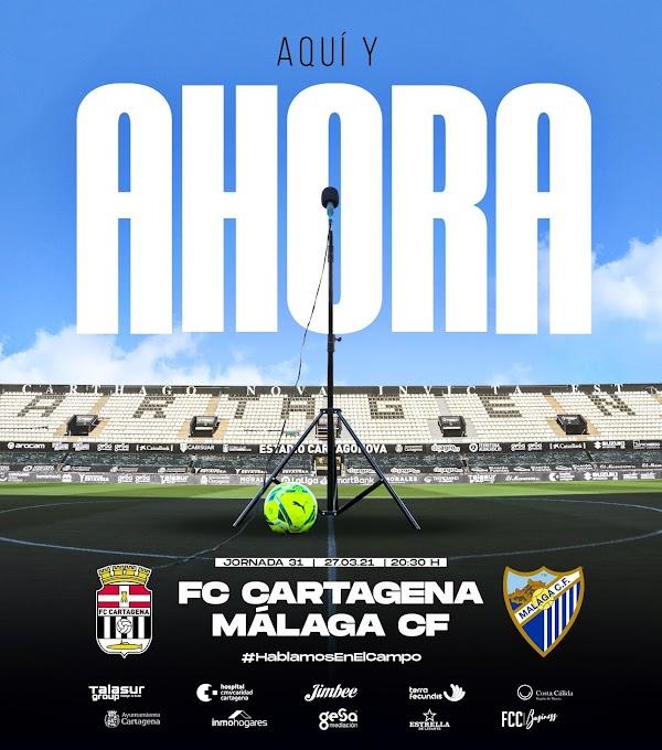 """El FC Cartagena avisa al Málaga: """"Aquí y ahora"""""""
