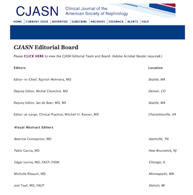 The New Visual Abstract Editorial Team at CJASN