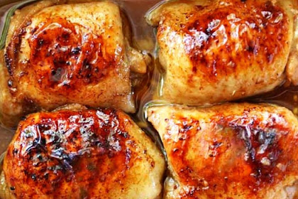BAKED SOY SAUCE CHICKEN THIGHS RECIPE