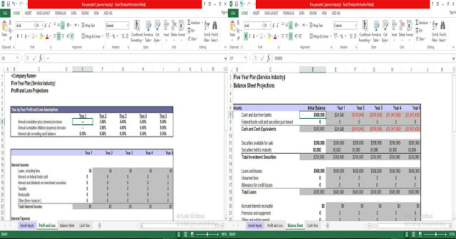 5 Year Plan Template in Excel