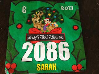 Disney 5K Race Bib