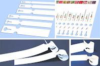 Schlaufenetiketten auf Bogen für Laserdrucker