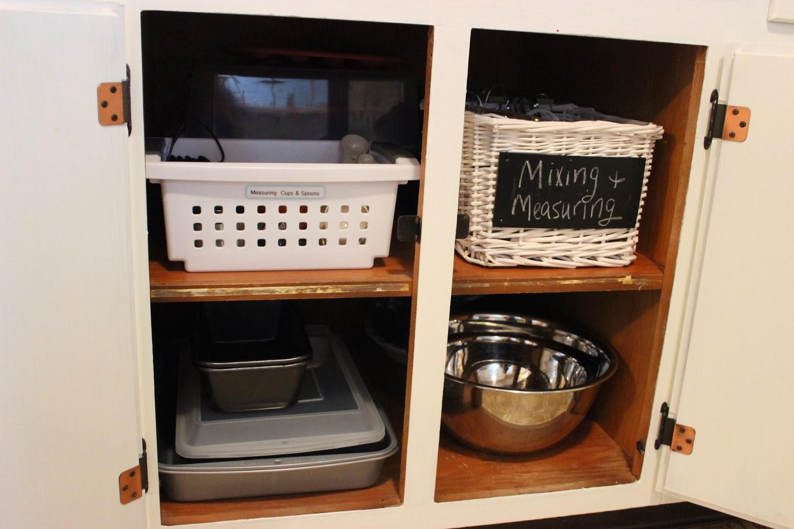 Organizing For Six Organized Baking Cabinets Amp Utensils