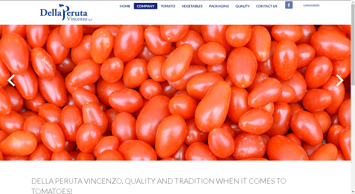Picture to Italian food exporter company named Della Peruta Vincenzo Spa