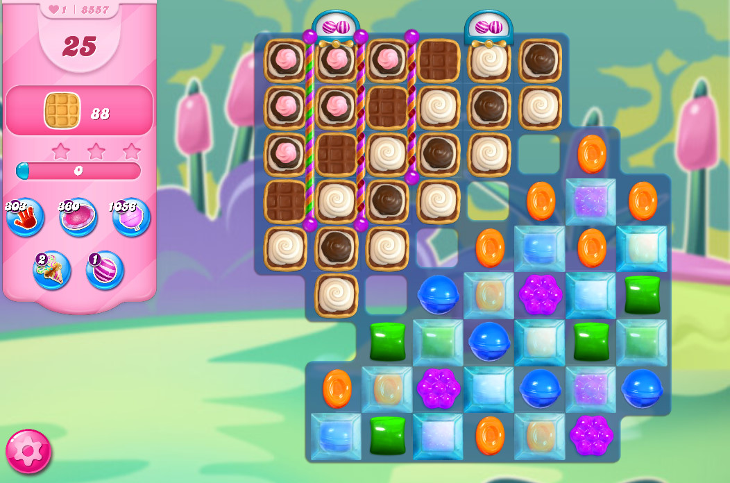 Candy Crush Saga level 8557
