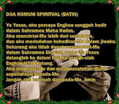 doa komuni spiritual