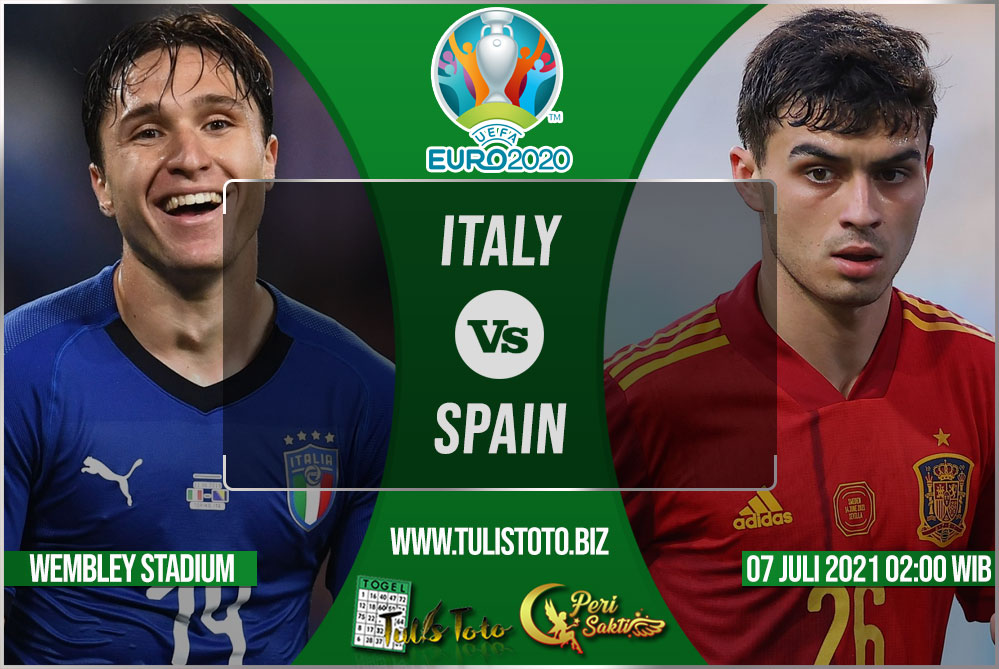 Prediksi Italy vs Spain 07 Juli 2021