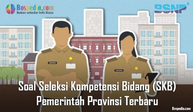 Soal Seleksi Kompetensi Bidang (SKB) Pemerintah Provinsi Terbaru