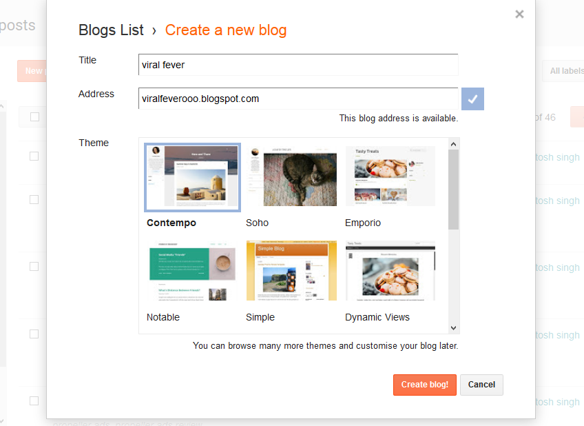 what is blog in hindi, blog on blogspot, free blog