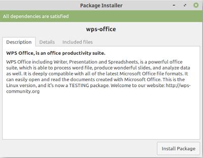 Cara Mudah Install WPS Office di Linux Mint / Ubuntu