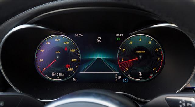 Thiết kế Màn hình phía sau vô lăng Mercedes C300 AMG 2019