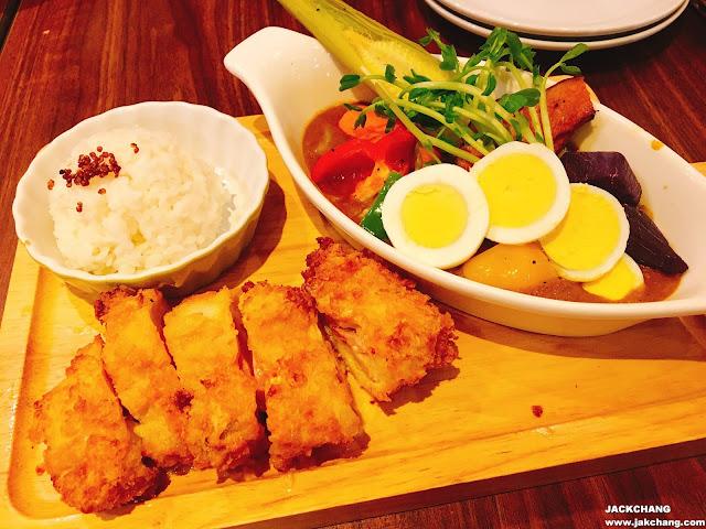 札幌風十種蔬菜湯咖喱&起士雞排
